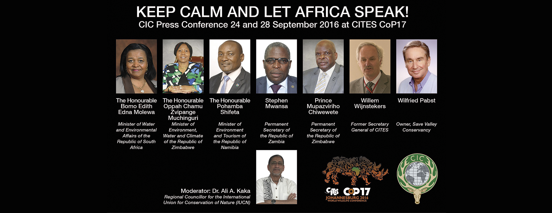 CITES: Keep Calm And Let Africa Speak <br> November 2016, Volume 14-4&5